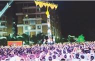 हजारोंच्या उपस्थितीत मानाच्या दहीहंडीसाठी गोविंदांची गर्दी