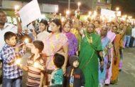 राजाराम माने यांच्या कुटूंबियांना न्याय मिळावा यासाठी शिरोळ ग्रामस्थांनी काढला कँडल मार्च