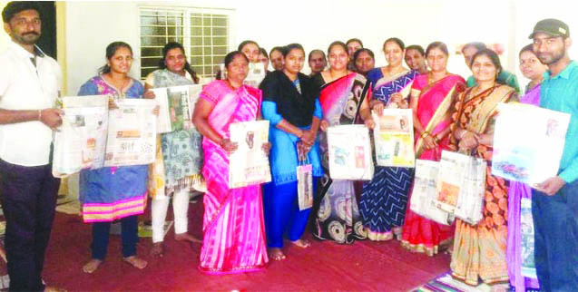 चिंचवड येथे महिलांसाठी कागदी पिशव्या बनविण्याचे प्रशिक्षण; शेखर चिंचवडे युथ फाऊंडेशनचा उपक्रम