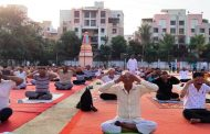 पूर्णानगर येथील योग दिन कार्यक्रमात ४०० नागरिकांचा सहभाग