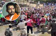 कोल्हापुरात पूरग्रस्त महिलांचं आंदोलन, धैर्यशील माने यांच्यासमोर मारल्या नदीत उड्या