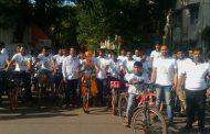 पर्यावरण पूरक गणेशोत्सवाचा संदेश देणार्या सायकल रॅलीला चांगला प्रतिसाद